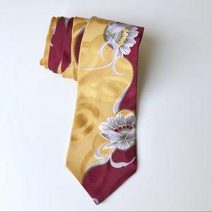 Vintage Retro Style 100% Silk Men's Tie